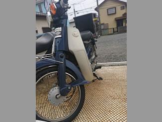 東京都国分寺市戸倉4丁目で無料で引き取りと廃車をしたホンダ スーパーカブ70 DX ブルー リアボックス付き