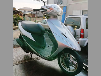 神奈川県海老名市社家で無料で引き取りと廃車をしたスズキ アドレスV50 シルバー