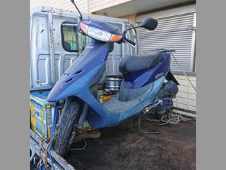 本庄市今井で無料で引き取りと廃車をしたホンダ ライブDio ブルー 後期モデル