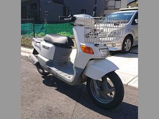 松戸市新松戸3丁目で無料で引き取りと廃車をしたヤマハ ギア 前カゴ付き