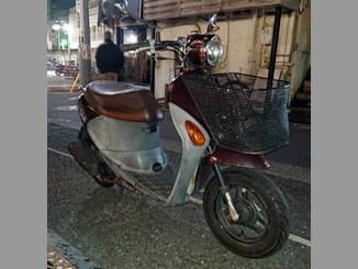 世田谷区太子堂で無料で引き取りと廃車をしたスズキ レッツ4 パレット スウィートブラウン 前カゴ付き