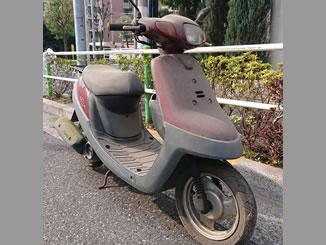 板橋区相生町で無料で引き取りと廃車をしたヤマハ JOGアプリオ レッドEスパークル