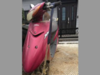 三鷹市牟礼6丁目で原付バイクのリモコンJOG ダルレッドメタリックを無料で引き取り