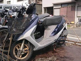 横浜市鶴見区市場下町で無料で引き取りと廃車をしたホンダ スーパーDio ネイビー