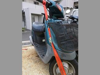 西東京市柳沢2丁目で無料で引き取りと廃車をしたヤマハ JOG アプリオ ダークグレイッシュシアン