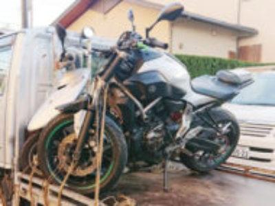足立区東和1丁目で大型バイクのMT07/事故車を無料で処分と廃車