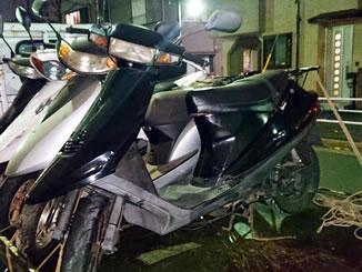 江戸川区春江町5丁目で無料で引き取りと廃車をしたスズキ アドレスV100 ブラック