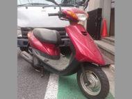 新宿区中落合で無料で引き取り処分と廃車手続き代行をしたヤマハ JOG FI