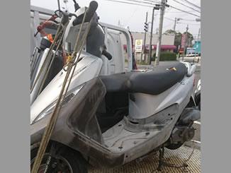 横浜市泉区新橋町で無料で引き取りと廃車をしたSYM X-PRO100 シルバー