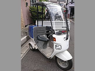 松戸市二ツ木で無料で引き取りと廃車をしたホンダ ジャイロキャノピー ワゴンタイプ