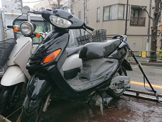 世田谷区三宿1丁目で無料で引き取りと廃車をしたヤマハ グランドアクシス