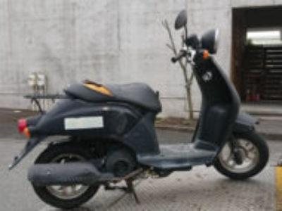 宇都宮市の原付バイク トゥデイ ブラックを無料で引き取りと処分