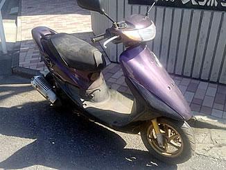 我孫子市白山1丁目で無料で引き取りと廃車をした原付バイクのライブDio ZX パープル