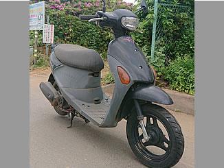 松戸市二十世紀が丘梨元町で無料で処分と廃車をした原付バイク スズキ レッツ4