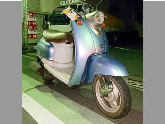 足立区千住大川町で無料で引き取り処分をした原付バイク ヤマハのビーノ2サイクル ライトブルー