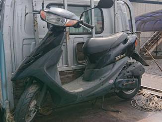 宇都宮市大塚町で無料で処分と廃車をした原付バイクのホンダ ライブDio S ブラック