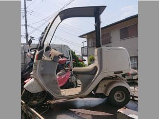 横浜市旭区今宿町で無料で引き取りと処分をした原付ホンダのジャイロキャノピー ワゴンタイプ