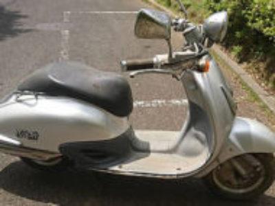 鎌ケ谷市南鎌ヶ谷4丁目で原付バイクのホンダ ジョーカー50 シルバーを無料引き取りと処分