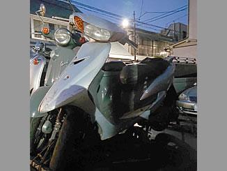 新宿区戸山1丁目で無料で引き取り処分と廃車をしたヤマハ JOG シルバー1