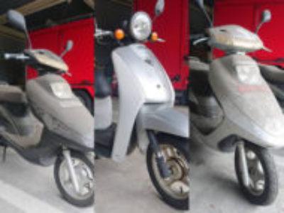 横浜市磯子区新杉田町で原付バイク3台を無料で引き取りと処分
