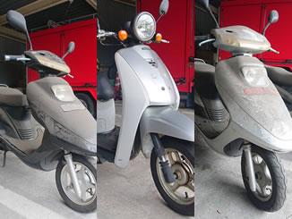 横浜市磯子区新杉田町で無料で処分と廃車をした3台の原付バイク