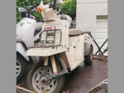 世田谷区代田1丁目で原付バイクのホンダ ジャイロ Xを無料引き取りと処分