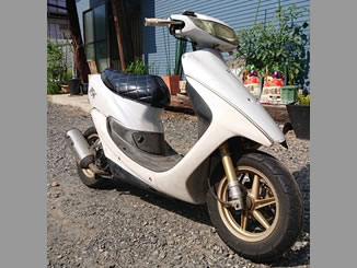 川口市東本郷2丁目で無料で処分と廃車をした原付バイクのホンダ ライブDio ZX