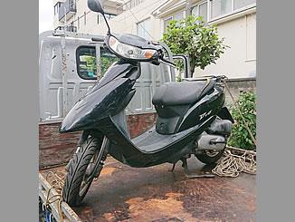 文京区白山5丁目で無料で処分をした原付バイクのホンダ Dio/AF62 ブラック