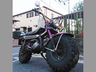 中野区鷺宮3丁目で無料で処分と廃車をした原付バイクのホンダ バンバン90 パープル