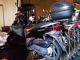 国分寺市西町1丁目で無料で廃車と処分をした原付バイクのホンダ Dio110 パールプロキシオンブラック