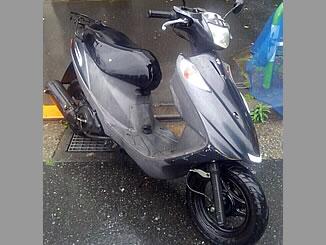 豊島区池袋4丁目で無料で処分と廃車をした原付バイクのスズキ アドレスV125G ファントムブラックメタリックNo.2