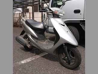 市川市大野町3丁目で無料で処分と廃車をした原付バイクのヤマハ JOG ZII シルバー