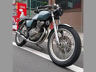 目黒区青葉台3丁目で無料で処分と廃車をした250ccバイクのホンダ GB250 クラブマンのカスタム車