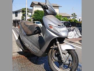 横浜市港北区篠原東3丁目で無料で処分と廃車をした原付バイクのスズキ アドレスV100 シルバー