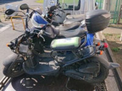 上尾市原市で原付バイクのホンダ ズーマー FIを無料で引き取りと処分
