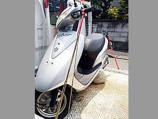横浜市栄区公田町で無料で廃車と処分をしたホンダ Dio(4サイクル) シグマシルバーメタリック