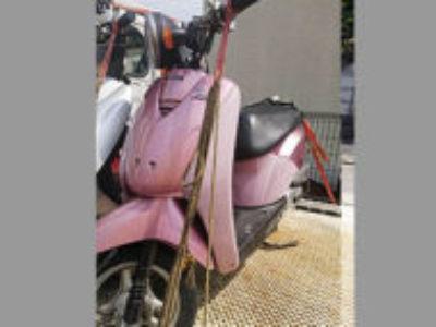 相模原市緑区二本松3丁目で原付バイクのホンダ トゥデイ ピンクを無料引き取り処分