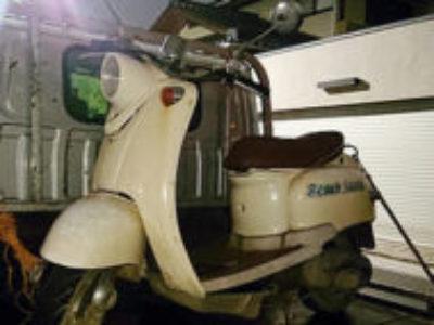 草加市草加4丁目で原付バイクのヤマハ ビーノ クラシック ホワイトを無料引き取りと処分