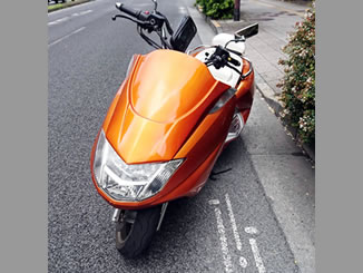 板橋区弥生町で無料で廃車と処分をした250ccバイクのヤマハ マグザム カスタム オレンジ