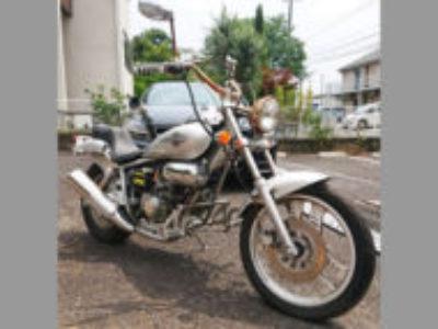 松戸市八ケ崎6丁目で原付バイクのホンダ マグナ50 シルバーを無料引き取り処分