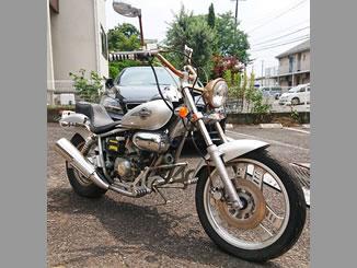 松戸市八ケ崎6丁目で無料で廃車と処分をしたホンダ マグナ50 シルバー