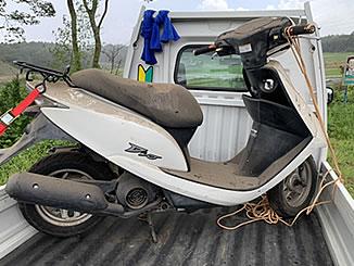香取郡神崎町で無料で処分と廃車をしたホンダ Dio パールキャンサーホワイト
