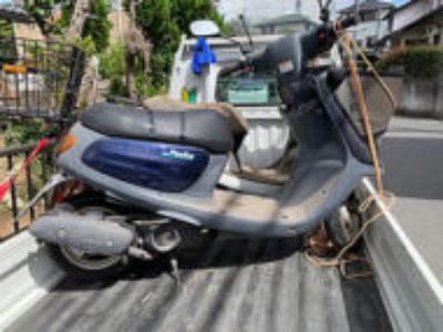 四街道市大日で原付バイクのヤマハ JOG ポシェ ブルーを無料で引き取り処分