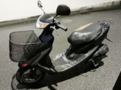 横浜市戸塚区平戸町で原付バイクのホンダ ライブDio ブラックを無料廃車と処分