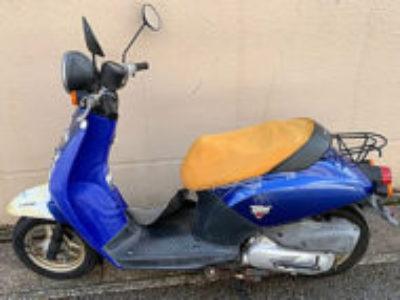 浦安市日の出1丁目で原付バイクのホンダ トゥデイ ブルーを無料引き取り処分