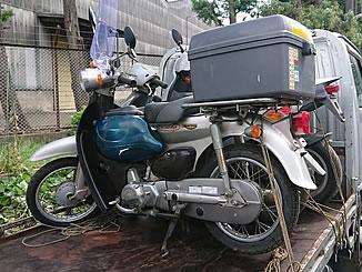 小平市小川東町で無料で廃車と処分をしたホンダ リトルカブ スパークリングシルバーメタリック