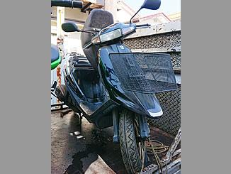 三鷹市牟礼2丁目で無料で廃車と処分をしたスズキ アドレスV100 ブラック