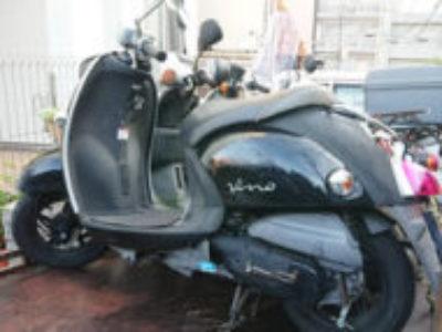 横浜市緑区鴨居4丁目で原付バイクのヤマハ ビーノ FI ブラックを無料引き取り処分