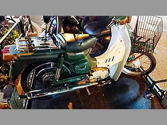 新宿区高田馬場4丁目で無料で廃車と処分をしたスズキ バーディー50 グリーン
