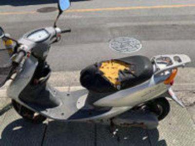 市川市本北方1丁目で原付バイクのヤマハ JOG/2スト シルバーを無料引き取りと処分